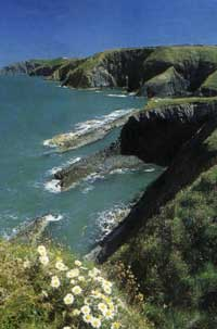 The beautiful Pembrokeshire coastlinne