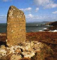 The 'Last Invasion of Britain' memorial stone at Carreg Goffa