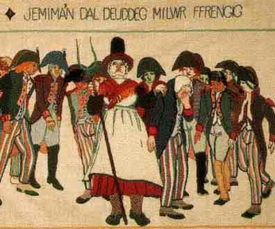 Jemima Nicholas captures the French soldiers
