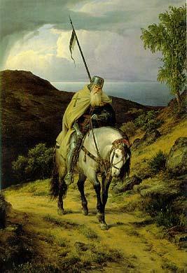 Templar Knight returning from Crusade